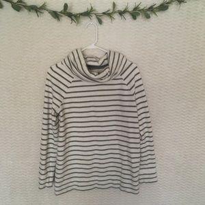 Lou & Grey | Funnel Neck Striped Sweatshirt